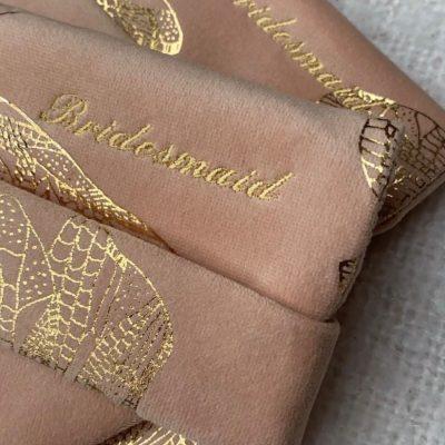personalised luxury bridal clutch bags