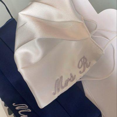 personalised luxury bridal face masks
